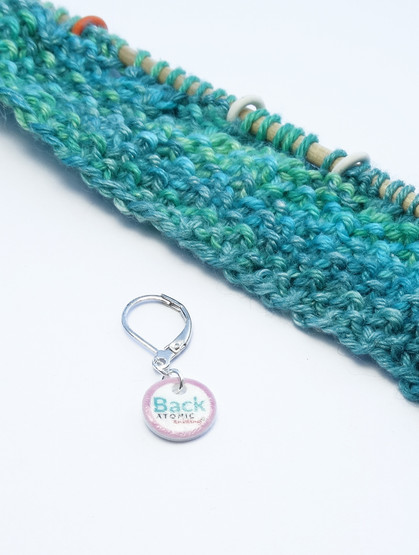 Back stitch marker (shown with removable/6mm crochet clasp)