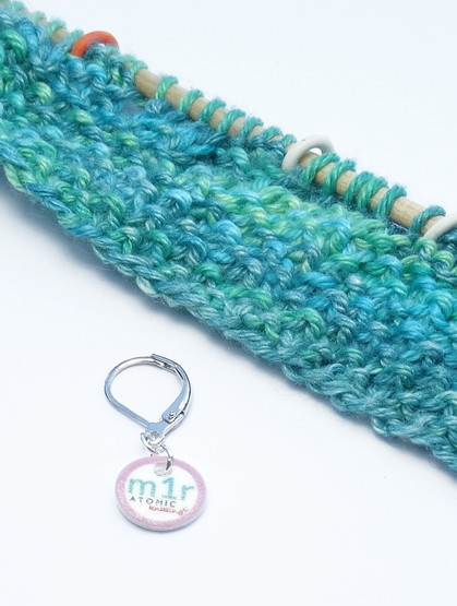 m1r stitch marker (shown with removable/6mm crochet clasp)