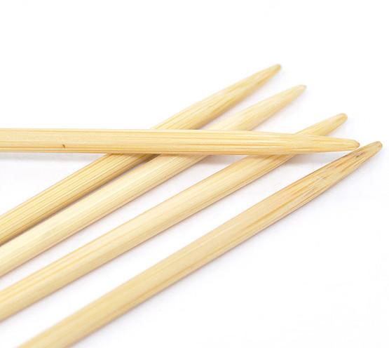 1 set 13cm Bamboo DPN Knitting Needle Size 6.0mm