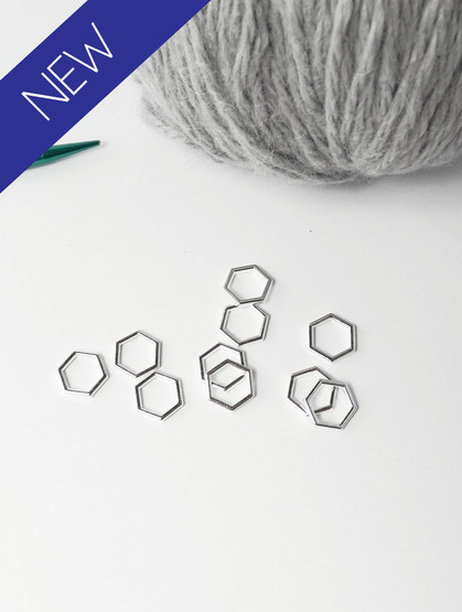 Silver solid snag free stitch markers