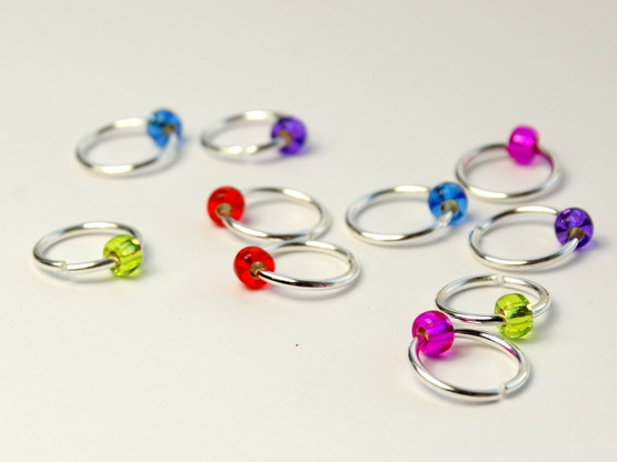 10 Mystery Colour Jewel Rings Lace Markers 5mm