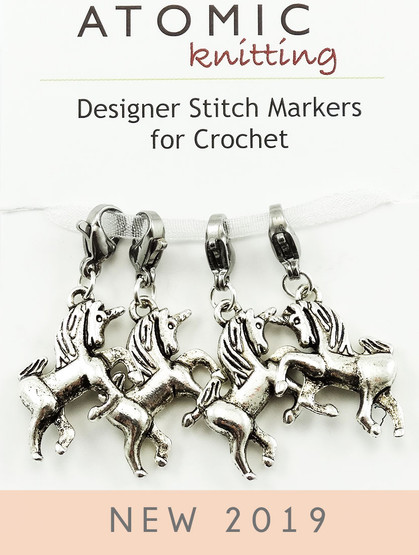 Unicorn Crochet Markers