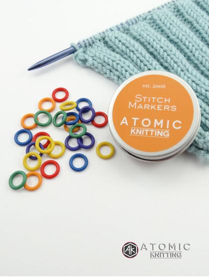 Snag free lace stitch markers & tin