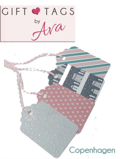 Copenhagen Card Gift Tag Set - 4 tags