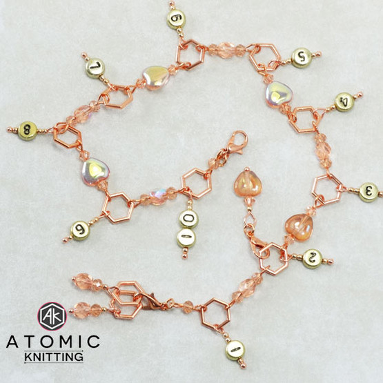 Rose Gold Plated Counter & Stitch Markers