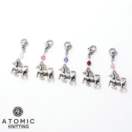 Swarovski Crystal & Unicorn Stitch Marker Set