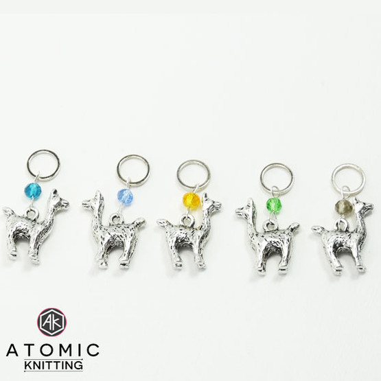 Swarovski Crystal & Alpaca Stitch Marker Set
