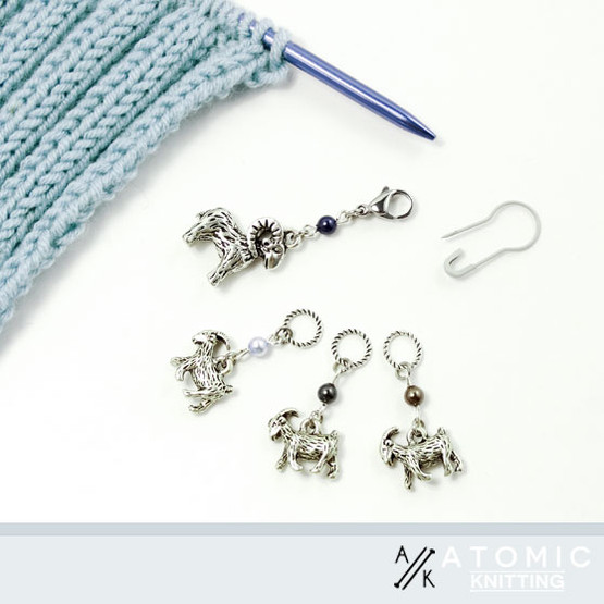 A Hurtle of Rams Knitters Stitch Marker Set