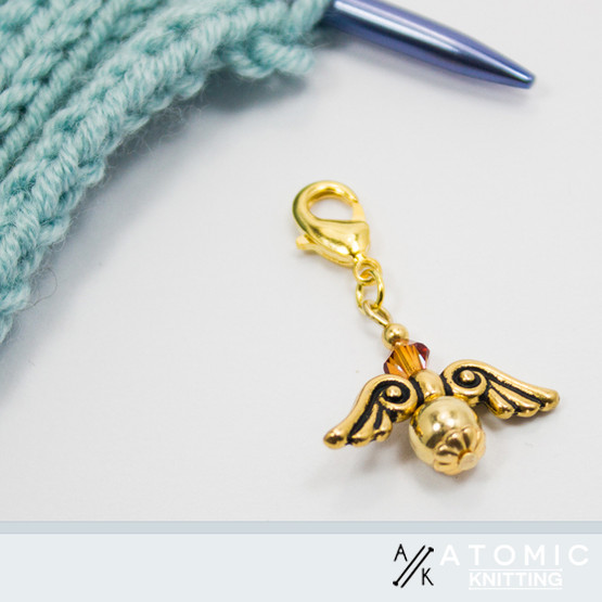 New! Golden Snitch Angel Progress Stitch Marker