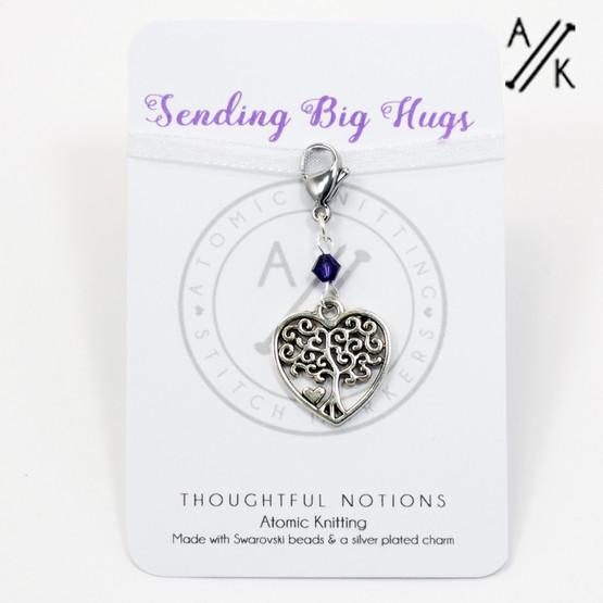 Sending Big Hugs Charm Progress Marker | Atomic Knitting