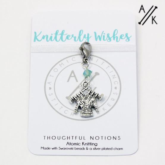 Knitterly Wishes Charm Progress Marker | Atomic Knitting