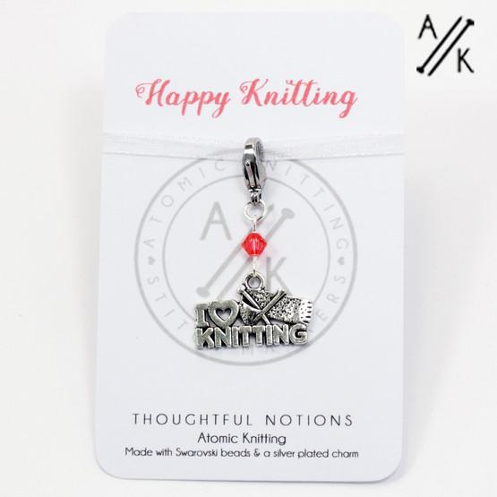 Happy Knitting Charm Progress Marker   Atomic Knitting