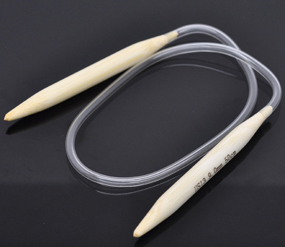 1 Pair 50cm Circular Knitting Needle Size 9mm