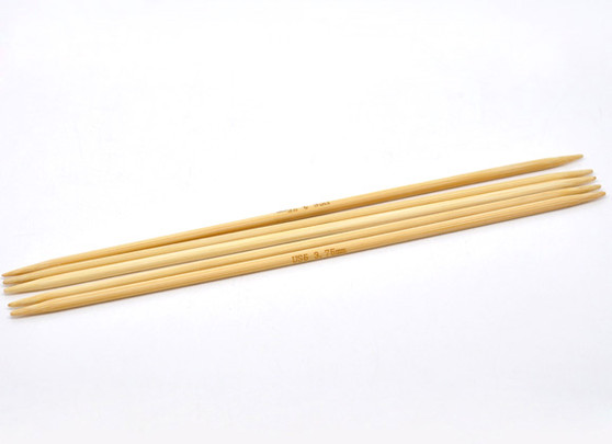 1 Set 20cm DPN Bamboo Knitting Needle Size 3.75mm