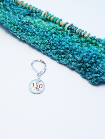 Counting Stitch Marker - 150 (shown with removable/6mm crochet clasp)
