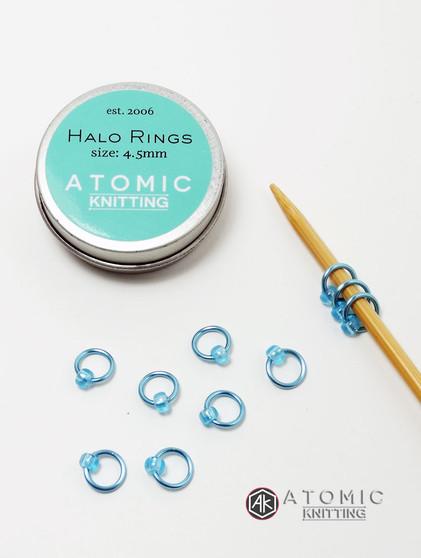 New tin design - halo rings by Atomic Knitting