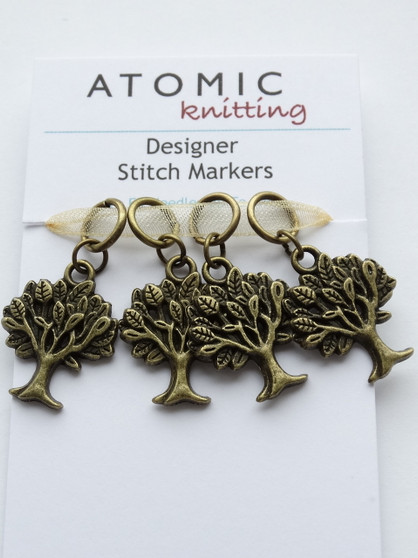 Antique Bronze Tree of Life stitch markers