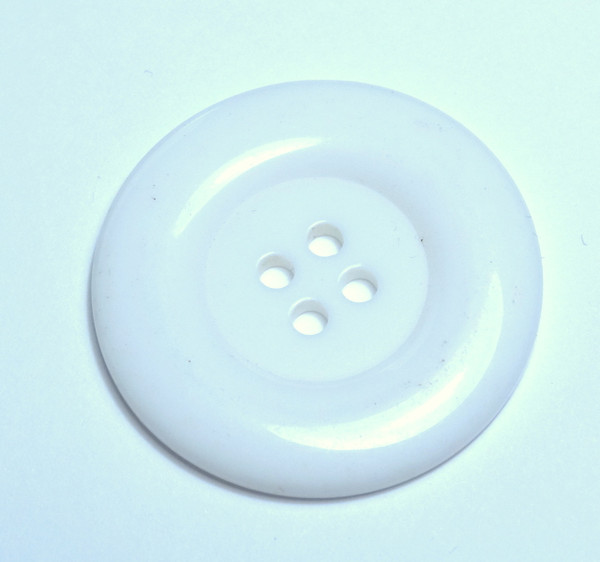 Round Acrylic Button - White - 38mm