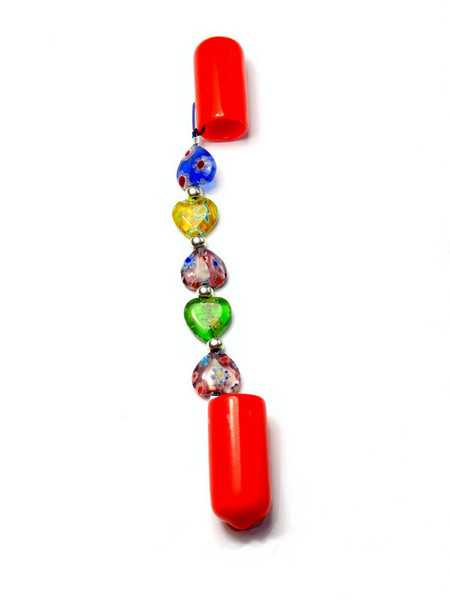 DPN Needle Keeper Holder Ends - Mystery Millefiori Hearts