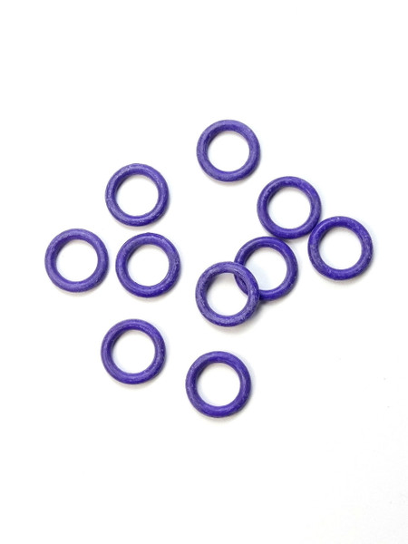 10 Purple Snag Free rubber stitch markers 6mm