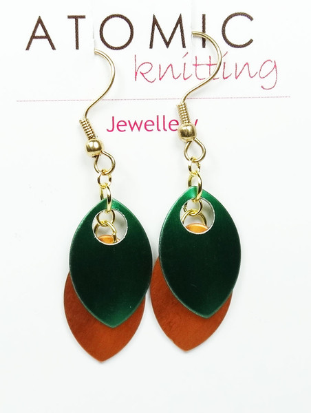 Green/Orange Colour  Earrings
