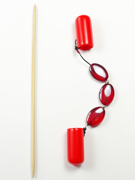 DPN Needle Keeper Holder - Oval red