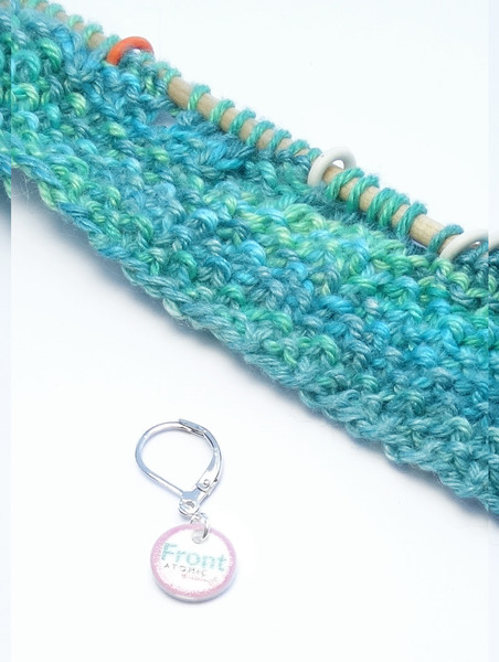 Front stitch marker (shown with removable/6mm crochet clasp)