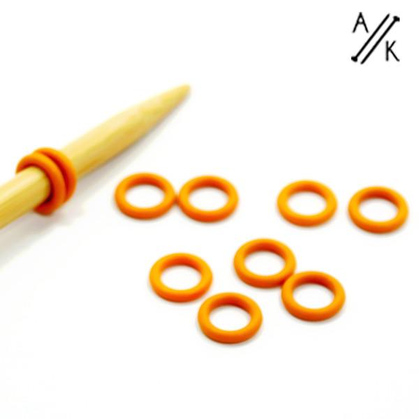 Orange 6mm Lace Knitting Stitch markers | Atomic Knitting