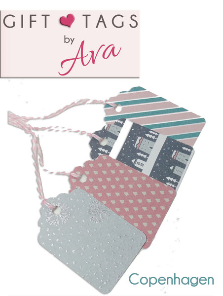 Copenhagen Card Gift Tag Set - 4 tags