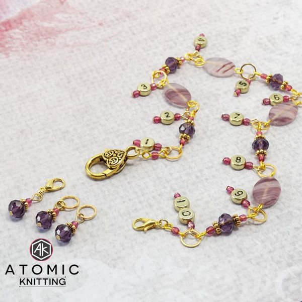 Purple Row Counter & stitch markers