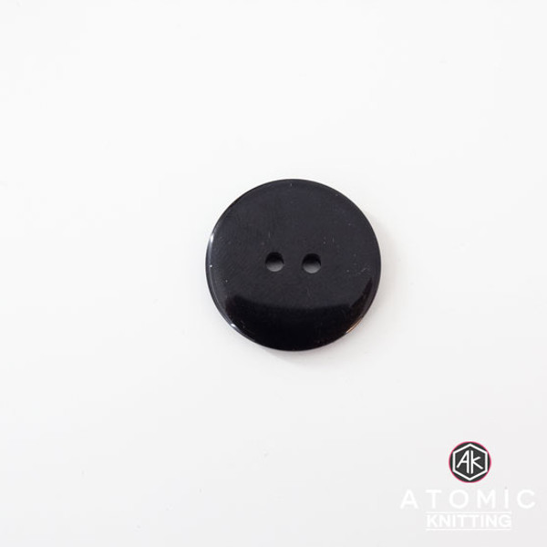 Round Acrylic Button 2 holes -Black - 22mm