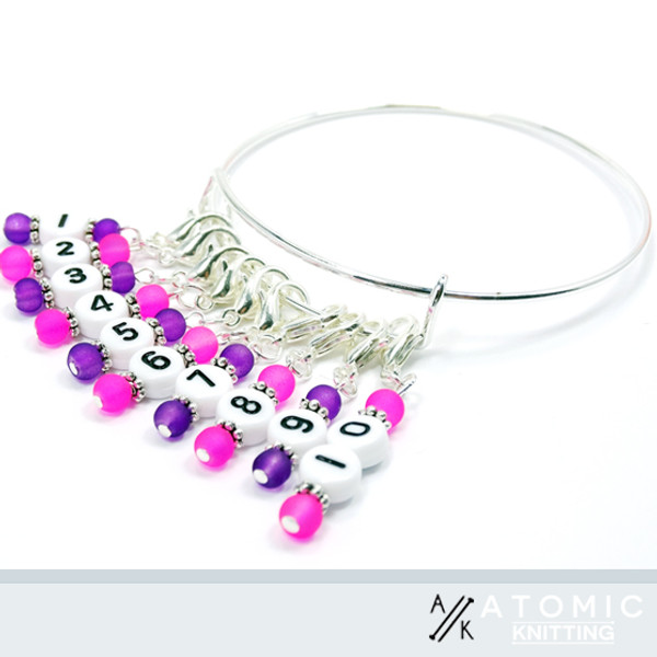 Counting stitch Marker bracelet