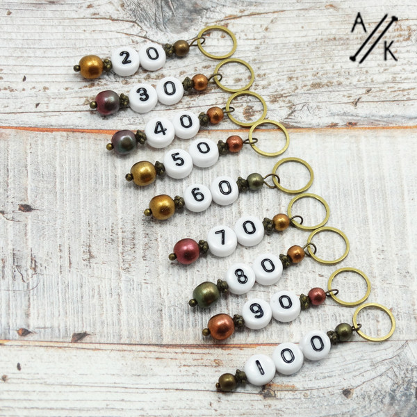 Numbered Counting Stitch Markers