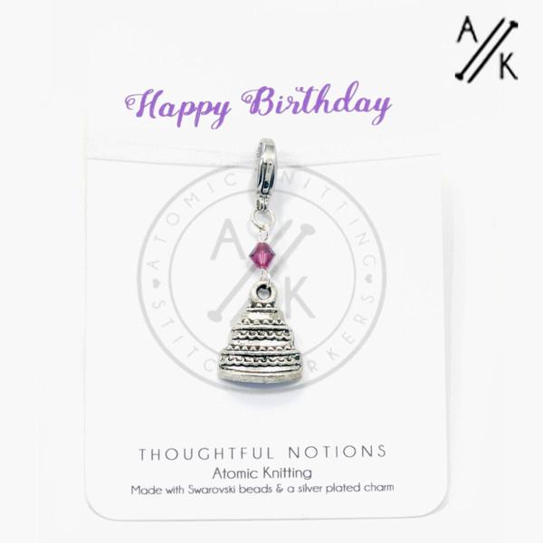 Happy Birthday Charm Progress Marker | Atomic Knitting
