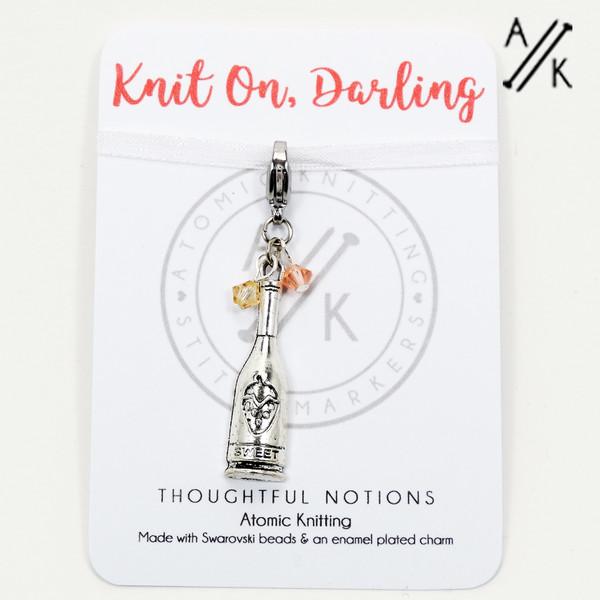 Knit On, Darling Charm Progress Marker | Atomic Knitting