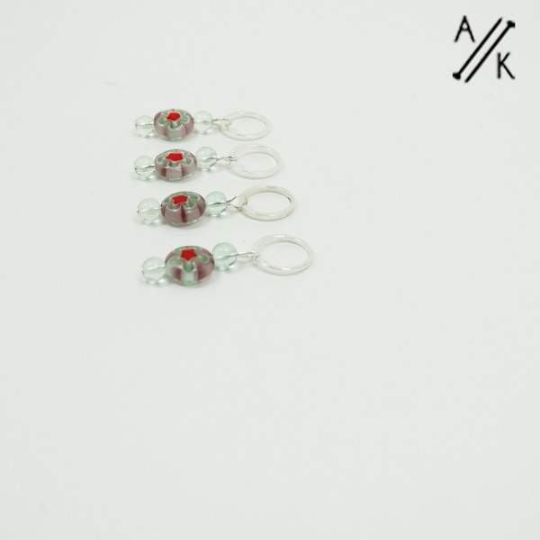Millefiori Stitch Markers | Atomic Knitting