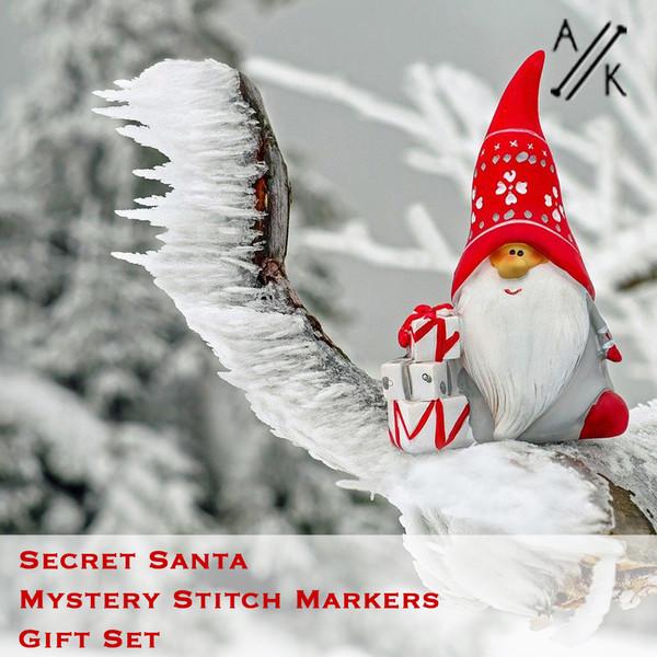 Secret Santa Stitch Markers & Tin   Atomic Knitting