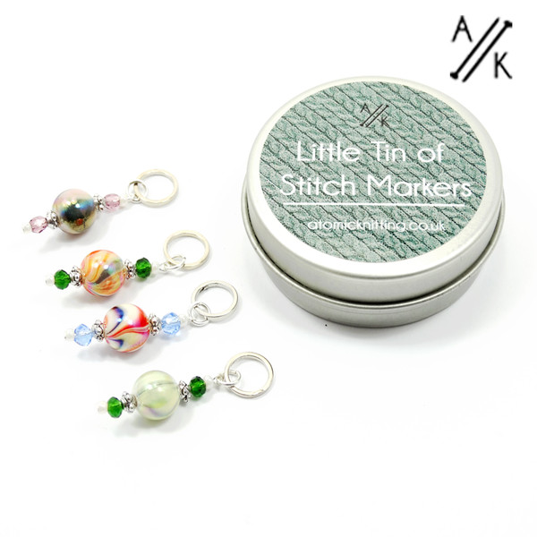 A Little Tin of Stitch Markers - Wanderlust