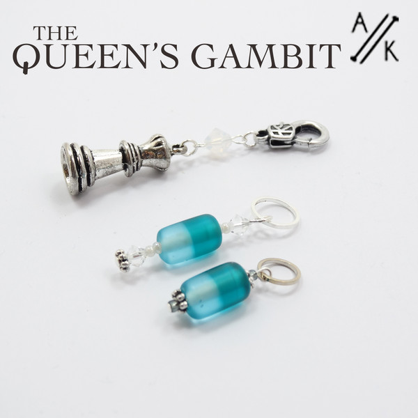The Queens Gambit Stitch Marker Set | Atomic Knitting