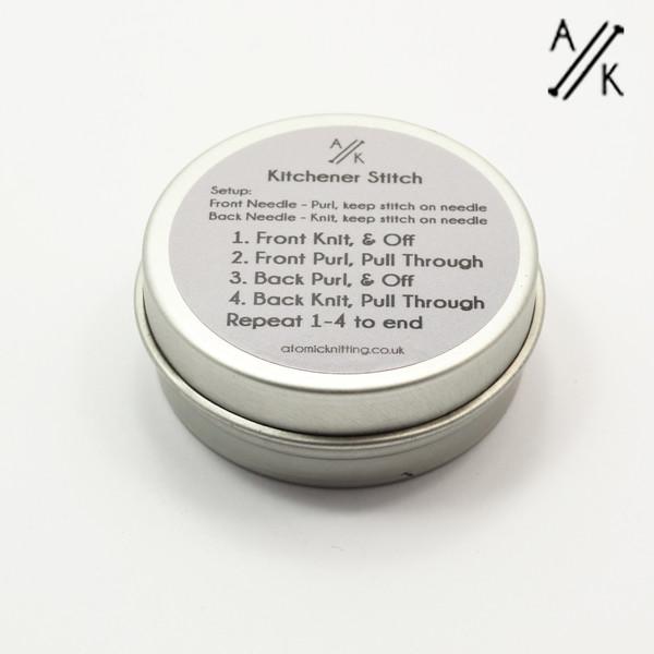 Kitchener Little Circular Tin - Tin Only | Atomic Knitting