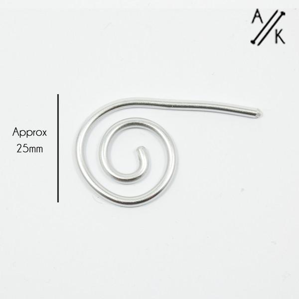 Aluminium Spiral Cable Needle Stitch Holder | Atomic Knitting