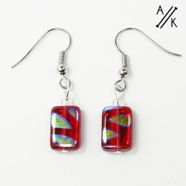 Red Lustre Earrings