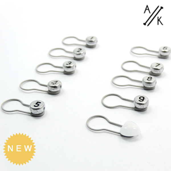 Numbered Bulb Pin Stitch Marker | Atomic Knitting