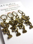Bronze Bee and Honey Stitch markers