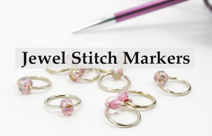 Jewel Bead Stitch Markers