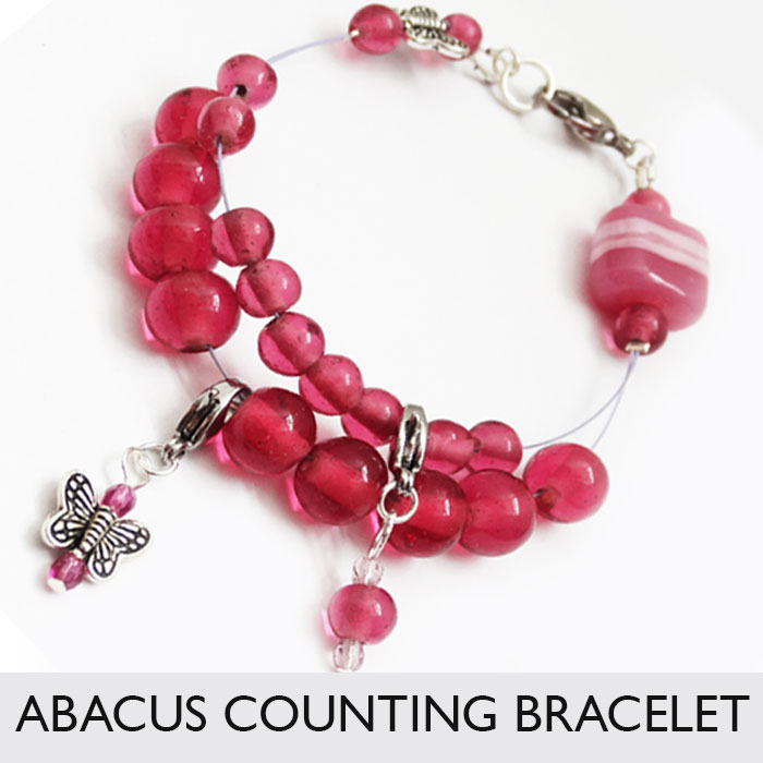 Abacus row counter bracelet for knitting