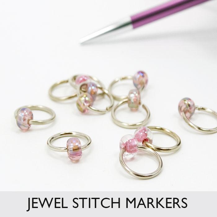 Jewel Single Bead Stitch Markers