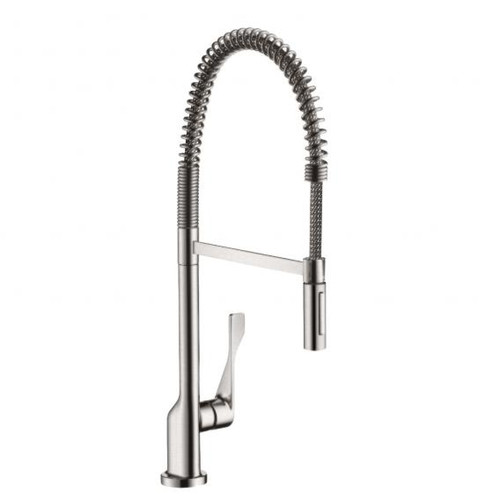 AXOR Citterio Semi-Pro single lever kitchen mixer stainless steel look