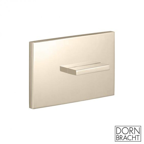 Dornbracht Design cover plate for concealed toilet cistern champagne