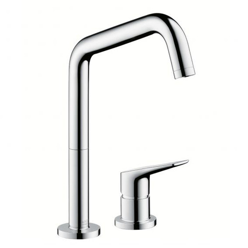"AXOR Citterio M two hole, single lever kitchen mixer, 1/2"" chrome"